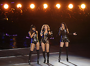 Beyonce and Destiny's Child perform during the Super Bowl XLVII halftime show at the Mercedes-Benz Superdome on February 3, 2013 in New Orleans.  UPI/David Tulis