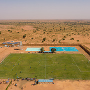 football for refugees in Niger