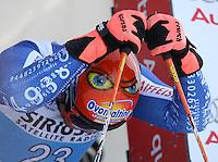 Ski Alpin; Saison 2006/2007  Riesenslalom Herren Didier Cuche (SUI) am Start, Helmaugen