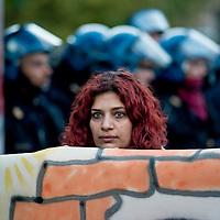 Manifestazione contro gli sfratti alla Regione Lazio
