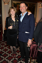 DOMINIC WEST and his wife CATHERINE at the Pig Pledge Evening at Club no41, 41 Conduit Street, London on 10th March 2014.