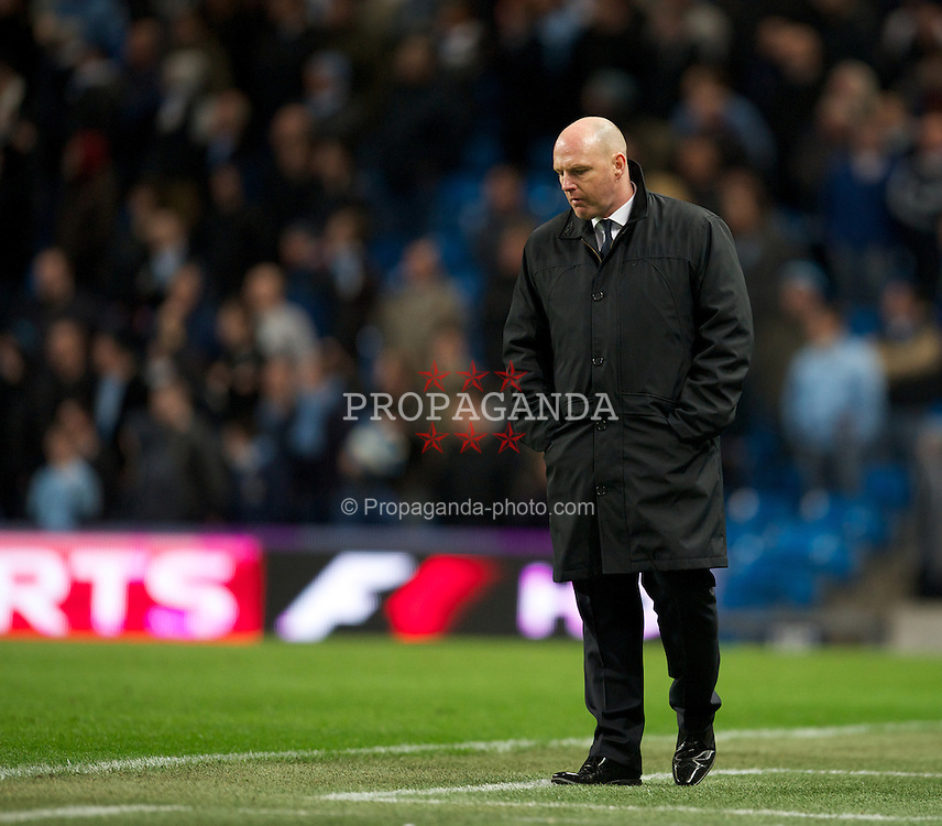 MANCHESTER, ENGLAND - Saturday, February 25, 2012: Blackburn Rovers' manager Steve Kean during the Premiership match against Manchester City at City of Manchester Stadium. (Pic by David Rawcliffe/Propaganda)