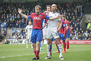 Lois Maynard (Tranmere Rovers) waits for a corner to be played during the Vanarama National League second leg play off match between Tranmere Rovers and Aldershot Town at Prenton Park, Birkenhead, England on 6 May 2017. Photo by Mark P Doherty.
