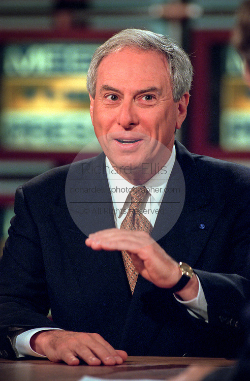 NASA Administrator Daniel Goldin discusses Sen. John Glenn's flight aboard the space shuttle during NBC's Meet the Press November 1, 1998 in Washington, DC.
