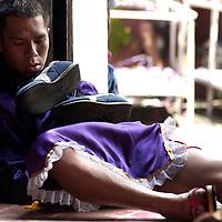 Celebration of the Black Christ in the town of Portobello, Colon, Panama