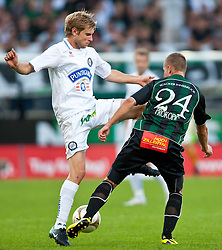 01.08.2010, Tivoli Stadion, Innsbruck, AUT, 1. FBL, FC Wacker Innsbruck vs SK Puntigamer Sturm, im Bild Manuel Weber,(SK Sturm Graz, Mittelfeld, #06) vs Boris Prokopic,(FC Wacker Innsbruck, Mittelfeld, #24). EXPA Pictures © 2010, PhotoCredit: EXPA/ J. Groder / SPORTIDA PHOTO AGENCY