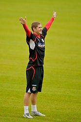 CARDIFF, WALES - Monday, October 13, 2008: Wales' Carl Robinson during training at the Vale of Glamorgan Hotel ahead of the 2010 FIFA World Cup South Africa Qualifying Group 4 match against Germany. (Photo by David Rawcliffe/Propaganda)