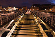 France. Paris. Seine river bridges. Solferino bridge ont the Seine river    France