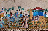 Egypte, Haute Egypte, vallee du Nil, rive ouest, Thebes antique et sa nécropole classée Patrimoine Mondial de l'UNESCO, environs de Louxor, Peintures murales // Egypt, Nile Valley, Luxor, Thebes, West bank of the River Nile, Valley of the Kings, World heritage of the UNESCO, village of Gourna El Gedida, wall paintings