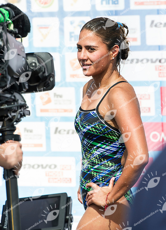 Adriana Jimenez Trejo MEX<br /> Women Competition <br /> FINA High Diving World Cup 2014<br /> Kazan Tatartsan Russsia RUS Aug. 8 to 10 2014<br /> Kazanka River  Day02 - Aug.9 <br /> Photo G. Scala/Deepbluemedia