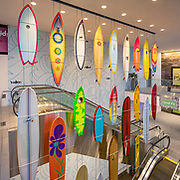 Westfield UTC, University Town Center, La Jolla, California, Shopping Mall Design, California Sheet Metal, California Surf Project, Surfboards, Classic Surfing, California Surf Culture, San Diego, Southern California, San Diego Architectural Photographer, Southern California Architectural Photographer