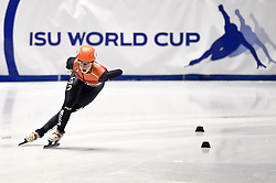 February 9, 2019 - Torino, Italia - Foto LaPresse/Nicolò Campo .9/02/2019 Torino (Italia) .Sport.ISU World Cup Short Track Torino - Ladies 1500 meters Semifinals .Nella foto: Suzanne Schulting..Photo LaPresse/Nicolò Campo .February 9, 2019 Turin (Italy) .Sport.ISU World Cup Short Track Turin - Ladies 1500 meters Semifinals.In the picture: Suzanne Schulting (Credit Image: © Nicolò Campo/Lapresse via ZUMA Press)