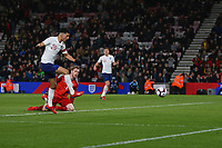 Football - 2018 / 2019 Under-21 International Friendly - England U21 vs. Germany U21<br /> <br /> Dominic Solanke of England equalises just before half time at The Vitality Stadium (Dean Court) Bournemouth England <br /> <br /> COLORSPORT/SHAUN BOGGUST