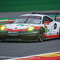 #91, Porsche Motorsport, Porsche 911 RSR (2017), driven by Richard Lietz, Frederic Makowiecki at WEC 6 Hours of Spa-Francorchamps 2017, Spa-Francorchamps race circuit, on 04.05.2017