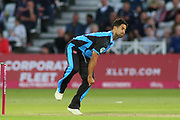 Brett D'Oliveira of Worcestershire Rapids bowling during the Vitality T20 Blast North Group match between Nottinghamshire County Cricket Club and Worcestershire County Cricket Club at Trent Bridge, West Bridgford, United Kingdon on 18 July 2019.