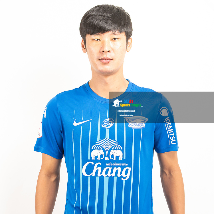 THAILAND - JUNE 11: Hyun Beom Park #45 of Chon Buri FC on June 11, 2019.<br /> .<br /> .<br /> .<br /> (Photo by: Naratip Golf Srisupab/SEALs Sports Images/MB Media Solutions)
