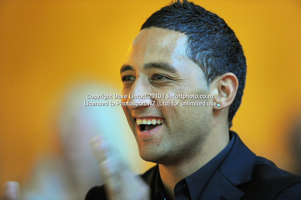 Kiwis captain Benji Marshall. 2010 New Zealand Rugby League Awards at Museum Building, Buckle Street, Wellington on Thursday, 21 October 2010. Photo: Dave Lintott / photosport.co.nz