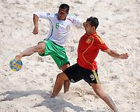 FIFA BEACH SOCCER WORLD CUP 2008 SPAIN - MEXICO   20.07.2008 Jose LUIS NAVARRETE (MEX, l) against Javier TORRES (ESP).