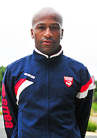 Toifilou MAOULIDA - 16.09.2014 - Photo officielle Nimes - Ligue 2 2014/2015<br /> Photo : Icon Sport