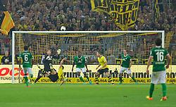 23.08.2013, Signal Iduna Park, Dortmund, GER, 1. FBL, Borussia Dortmund vs SV Werder Bremen, 3. Runde, im Bild Henrikh Mkhitaryan (BVB Borussia Dortmund #10) beim Seitfallzieher // duringthe German Bundesliga 3rd round match between Borussia Dortmund and SV Werder Bremen at the Signal Iduna Park, Dortmund, Germany on 2013/08/23. EXPA Pictures &copy; 2013, PhotoCredit: EXPA/ Andreas Gumz <br /> <br /> ***** ATTENTION - OUT OF GER *****
