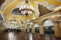 Russie, Moscou, la station de métro Komsomoloskaya // Russia, Moscow, metro station Komsomoloskaya