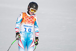 12.02.2014, Rosa Khutor Alpine Center, Krasnaya Polyana, RUS, Sochi, 2014, Abfahrt Damen, im Bild Elisabeth Goergl (AUT) // during the Womens downhill of the Olympic Winter Games Sochi 2014 at the Rosa Khutor Alpine Center in Krasnaya Polyana, Russia on 2014/02/12. EXPA Pictures © 2014, PhotoCredit: EXPA/ Freshfocus/ Michael Zanghellini<br /> <br /> *****ATTENTION - for AUT, SLO, CRO, SRB, BIH, MAZ only*****