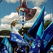 CLOSING OF CAMPAIGN OF HUGO CHAVEZ - VENEZUELA 2006 / CIERRE DE CAMPAÑA POLITICA DE HUGO CHAVEZ<br /> Photography by Aaron Sosa<br /> Caracas - Venezuela 2006<br /> (Copyright © Aaron Sosa)