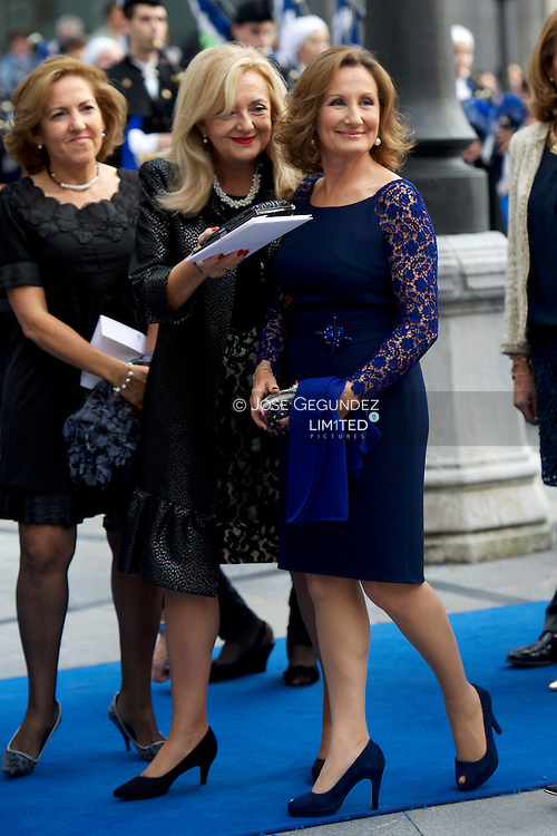 Princess Letizia's mother Paloma Rocasolano attends the 'Prince of Asturias Awards 2013' ceremony at the Campoamor Theater on October 25, 2013 in Oviedo, Spain.