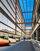 Car park and Bus loading bay at University of Basque Country Campus in Bilabo by Ander Marquet Ryan