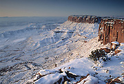 Sunrise, Rock Formations, Sandstone, Snow, Winter, Canyonlands, Canyonlands National Park, Utah