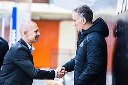 Coach of HDD Jesenice SIVIC Mitja and coach of HK SZ Olimpia VNUK Jure before the match at 16th International Summer Hockey League Bled 2019 on 24th August 2019. Photo by Peter Podobnik / Sportida