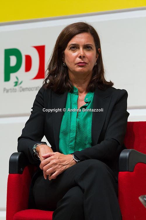 Bologna 05 Settembre 2014 - Festa dell'Unità - Dibattito: Cittadini e Istituzioni protagonisti del cambiamento. Nella foto Laura Boldrini