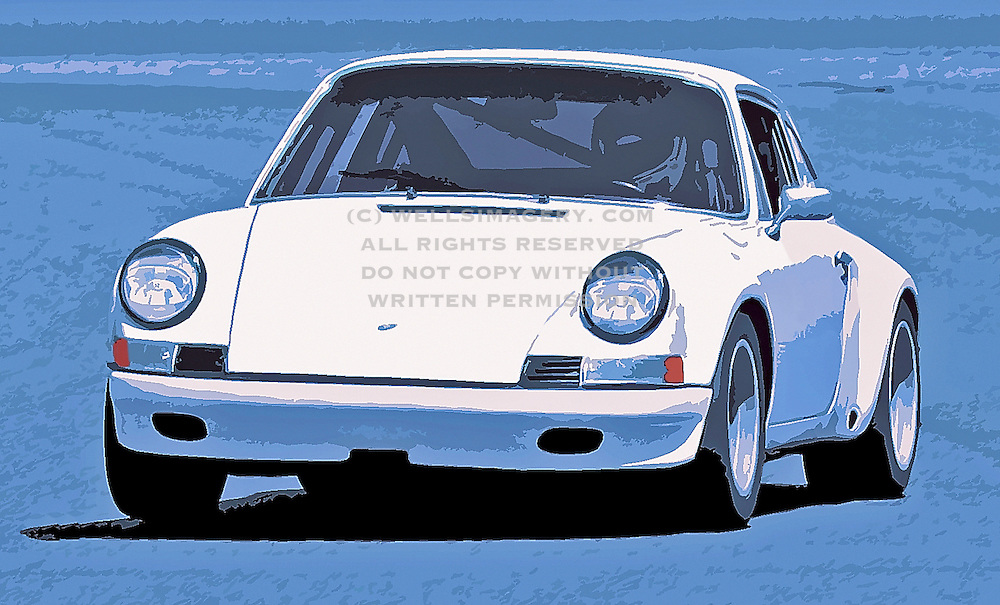 Image of a white Porsche 911 ST at Pacific Raceways, Washington, Pacific Northwest, model and property released