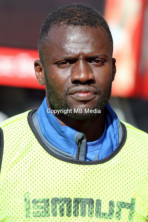 Kader Mangane of Strasbourg during the Ligue 2 match between Stade Brestois and RC Strasbourg Alsace  on October 15, 2016 in Brest, France. (Photo by Eddy Lemaistre/Icon Sport )