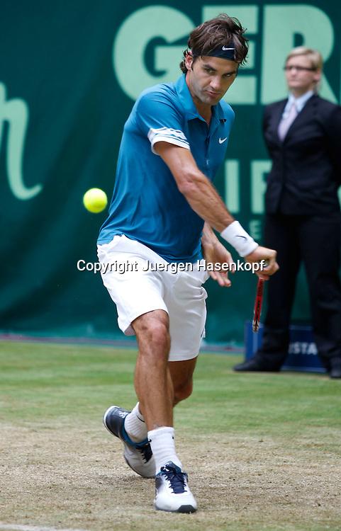 Gerry Weber Open 2010, Halle (Westf.), Tennis, ATP Turnier, Roger Federer (SUI),..Foto: Juergen Hasenkopf..