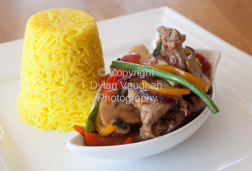 30/9/2008.Edward Hayden Chef Feature.Sweet and Sour Pork and Tumeric Rice..Picture Dylan Vaughan..