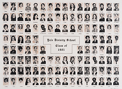 1981 Yale Divinity School Senior Portrait Class Group Photograph