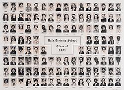 1981 Yale Divinity School Senior Portrait Class Group Photograph