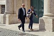 Roma 29 Aprile 2013..Il ministro dell'Integrazione Cecile Kyenge entra alla Camera dei Deputati dove si voto la fiducia al Governo Letta, e perde una scarpa