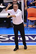 DESCRIZIONE : Brindisi Lega A 2014-15 Play Off Gara3 Quarti di Finale Enel Brindisi GrissinBon Reggio Emilia<br /> GIOCATORE : Bucchi Piero <br /> CATEGORIA : Allenatore Coach Mani <br /> SQUADRA : Enel Brindisi<br /> EVENTO : Campionato Lega A 2014-2015<br /> GARA : Enel Brindisi GrissinBon Reggio Emilia<br /> DATA : 23/05/2015<br /> SPORT : Pallacanestro <br /> AUTORE : Agenzia Ciamillo-Castoria/M.Longo<br /> Galleria : Lega Basket A 2014-2015 <br /> Fotonotizia : Brindisi Lega A 2014-15 Play Off Gara3 Quarti di Finale Enel Brindisi GrissinBon Reggio Emilia