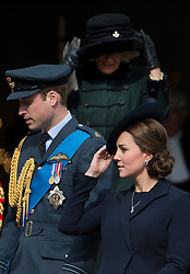 © London News Pictures. 13/03/2015. Prince William, Catherine Duchess of Cambridge Camilla, Duchess of Cornwall attend a service of commemoration to mark the end of combat operations in Afghanistan, at St Paul's Cathedral in London. Photo credit: Ben Cawthra/LNP