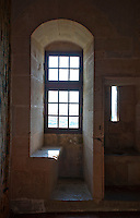 Window niche at Chateauneuf-en-Auxois, France.