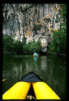 PHUKET, THAILAND:  People enjoying Eco-Tourism off of Ko Phi Phi islands south of Phuket, Thailand.  Eco-tourism is taking off in areas like southern Thailand. Photograph by David Paul Morris