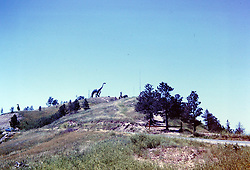 Vacation trip to South Dakota - Rapid City & Dinosaur Park,  circa 1963<br /> <br />  Photos taken by George Look.  Image started as a color slide.