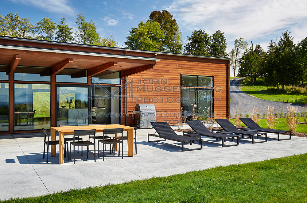 Part of Lindal Cedar Homes Architects' Collaborative Series, model 2230 is designed by Dowling Studios.<br /> Photographed by John Muggenborg.