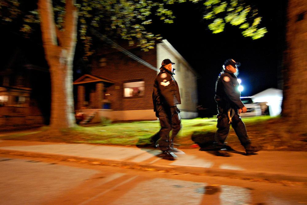 Police on patrol in Kingston, Ontario.