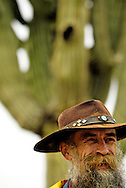 A ranch hand who moves livestock at the Parada del Sol Rodeo waits for the start of the rodeo on February 12, 2005 in Scottsdale, Arizona.  ..