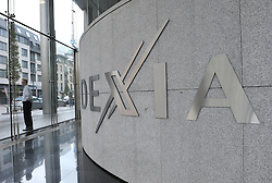 Dexia bank's logo in Brussels, capital of Belgium on Oct. 9, 2011. Belgian and French governments were set to finalize break-up negotiations of Dexia, the first bank to fall victim to the euro zone sovereign debt crisis on Sunday. Photo by Xinhua/Imago/i-Images