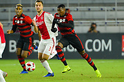 Flamengo midfielder Jean Lucas (18) in action during a Florida Cup match at Orlando City Stadium on Jan. 10, 2019 in Orlando, Florida. <br /> Flamengo won in penalties 4-3.<br /> <br /> ©2019 Scott A. Miller