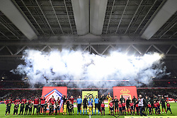 March 15, 2019 - Lille, France, FRANCE - line up des equipes (Credit Image: © Panoramic via ZUMA Press)